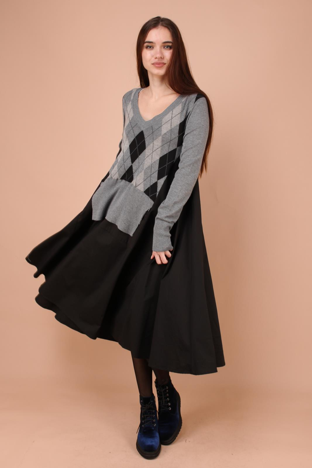 9cb5064a300 Платье WendyTrendy 17833 grey за 4900